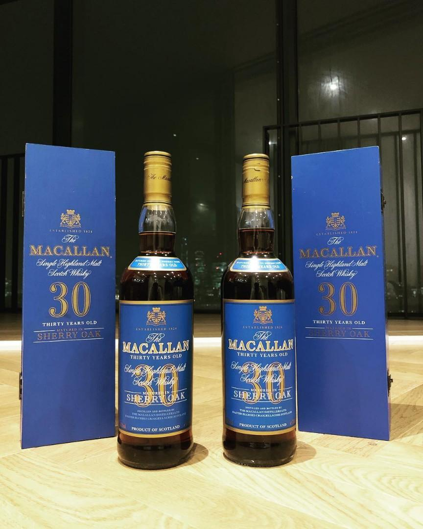 Macallan Collection( Ed #1, 30YO- blue label and 2018 release