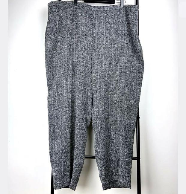 Maggie T sz 24 grey black pants trousers smart casual work basic plus size