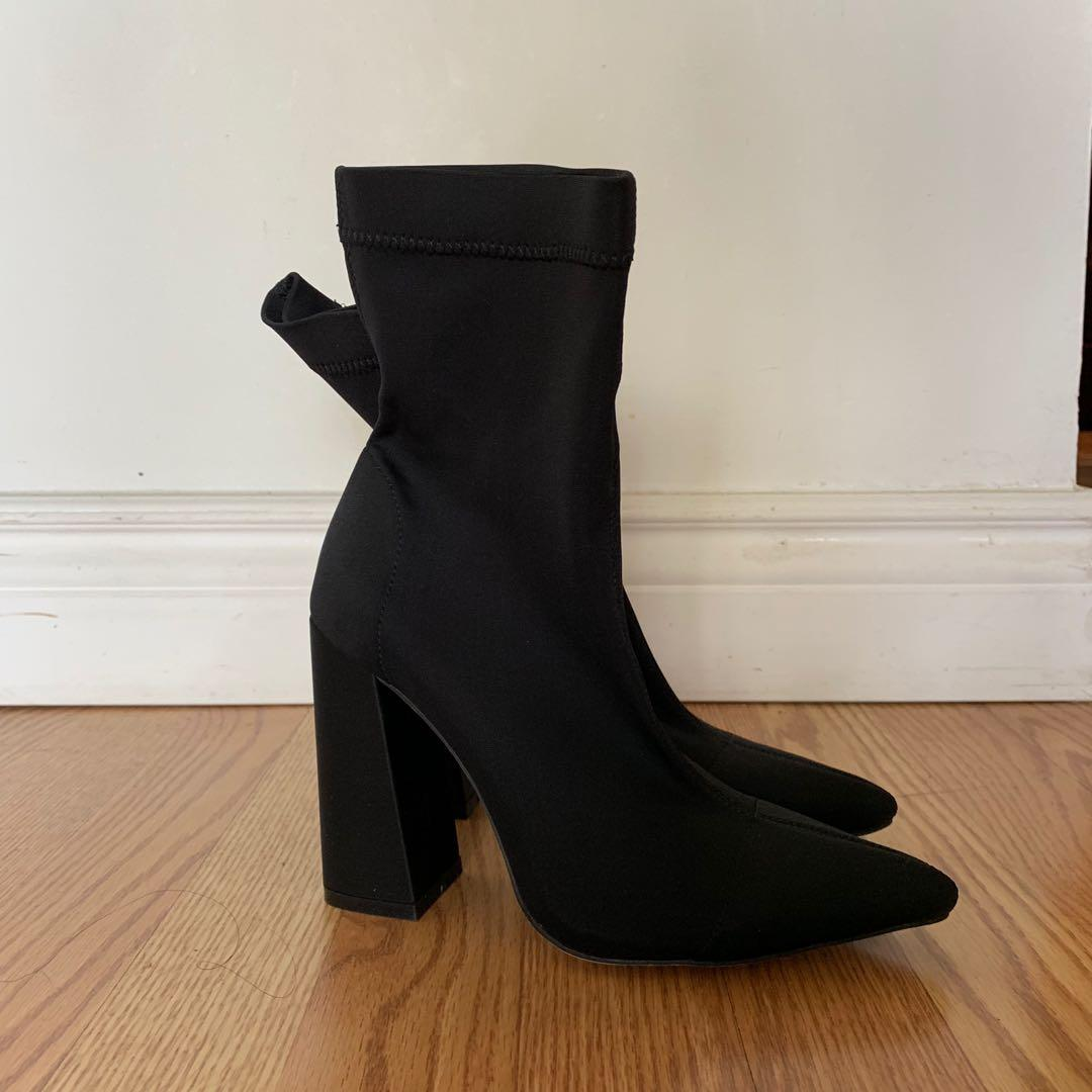 *PRICE DROP* Missguided Sock Boot Heels Size 5 women's
