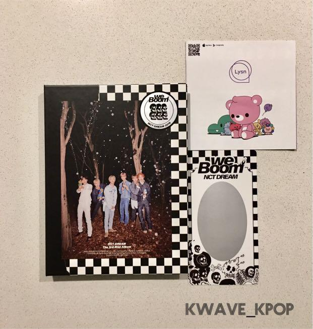 {NCT DREAM} 2019 THE 3RD MINI ALBUM WE BOOM - 1 CD DISC + PHOTO BOOK + 1P UNSCRATCHED PHOTO CARD