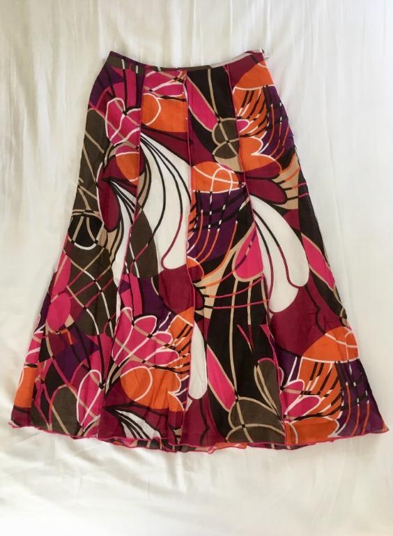 Principles Petite A Line Maxi Skirt (UK Size 8) - Mixed Floral Pattern