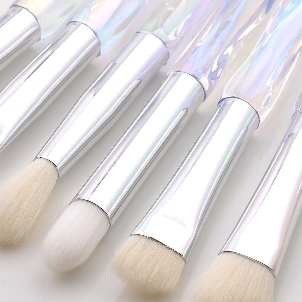 Professional Makeup Brush Set Cosmetic Blush Powder Foundation Brush Eye Shadow Lip Eyebrow Diamond Makeup Kit Brushes