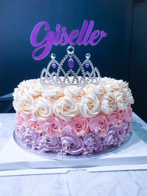 Pleasant Rosette Tiara Princess Birthday Cake Food Drinks Baked Goods Funny Birthday Cards Online Amentibdeldamsfinfo