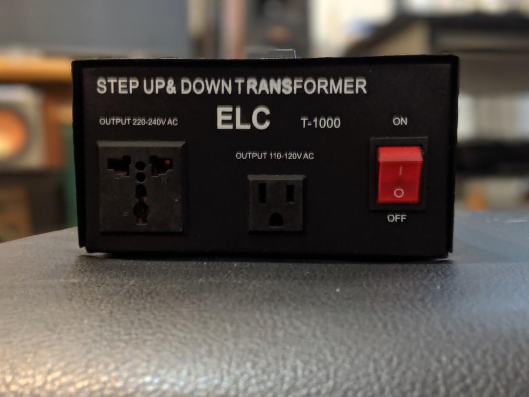 ELC T-1000 1000Watt Voltage Converter Transformer-Step Up//Down 110V//220V