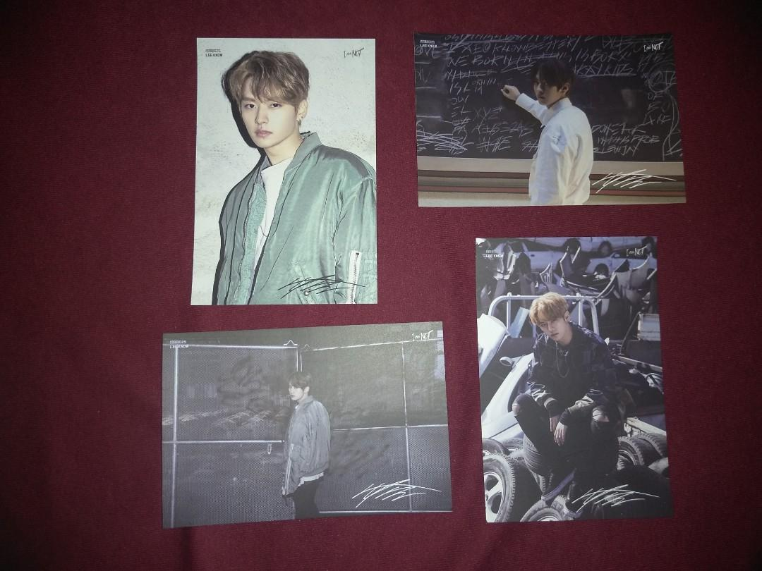 STRAY KIDS I AM NOT POSTCARD PRE-ORDER BENEFIT BANG CHAN LEE KNOW HYUNJIN SEUNGMIN