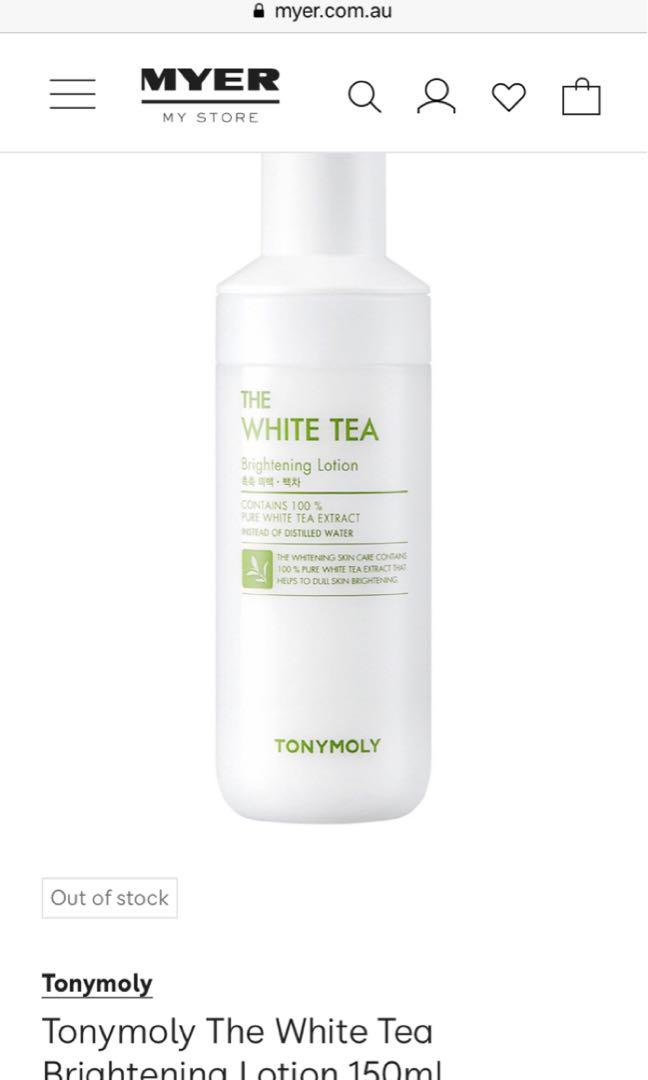 Tony moly Green Tea Watery Lotion and White Tea Brightening Lotion