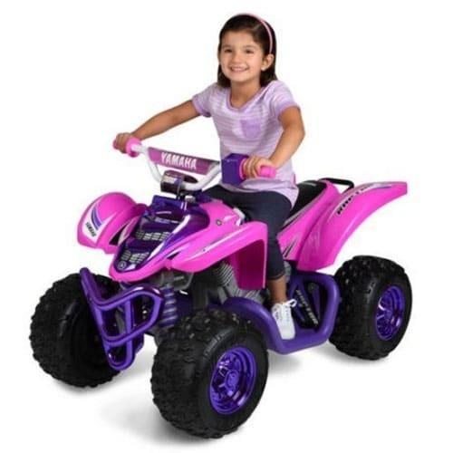 Yamaha 12 Volt Electric Raptor Quad Bike ATV Pink and Purple