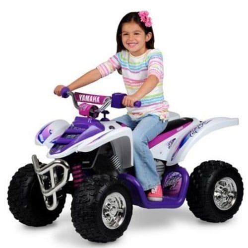 Yamaha 12 Volt Electric Raptor Quad Bike ATV White and Pink