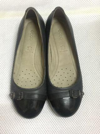 Ecco Grey Flats - Real Leather size36