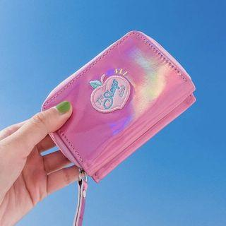 ONGOING PO : holographic peach wallet
