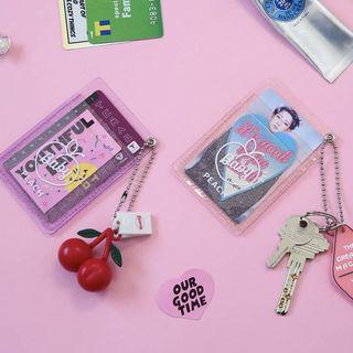 ONGOING PO : transparent cardholder