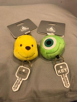 日本迪士尼商店 大眼仔 維尼 鑰匙伸縮套