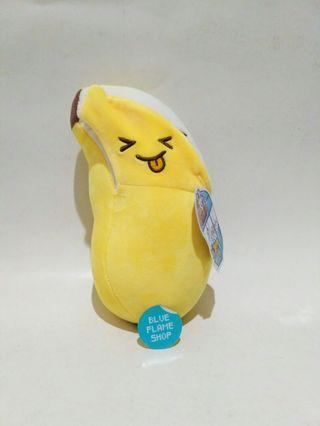 boneka pisang banana two face sad happy