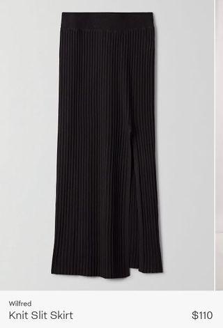 Wilfred Knit Slit Skirt