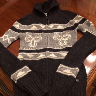 TNA Aritzia Zip Sweater Size Medium Lambswool