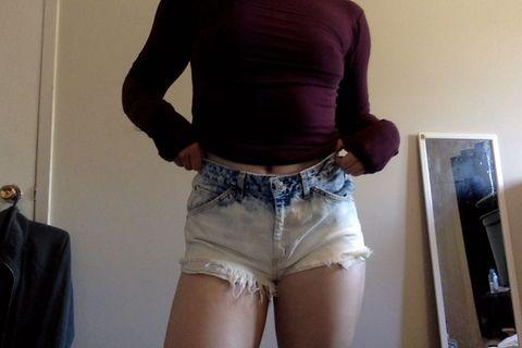 Bleached High Waisted Shorts