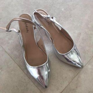 Silver shoes size 43