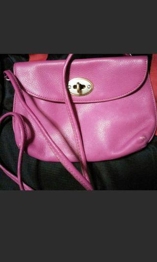 fossil sling bag pink