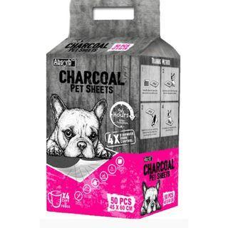 Absorb Plus Charcoal Pee Pads (Medium) x 2 1/2 packs