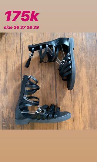 Sendal Gladiator Black Import