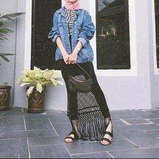 Thavia net skirt