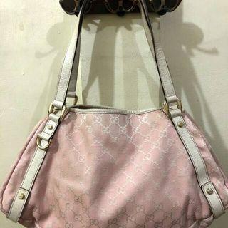 gucci shoulder bag authentic pink / tas preloved original branded