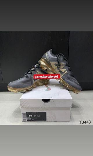 Nike Air Vapormax 2019 Black Metallic Gold BNIB PERFECT PAIRS