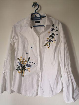 Embroidery Shirt Blouse Rope Brands Outlet (S)