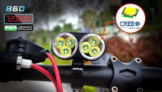 ***In Stock- VICMAX NEW Light 7200 Lumens 6xCREE XML U2 LED USA Frame Light With Aluminum Metal Clips Mount Holder Cycling Flashlight