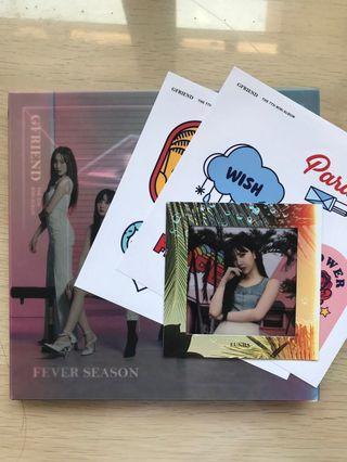 Gfriend Fever Season album + Eunha film card