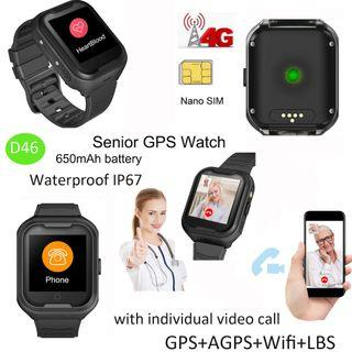 2019 * Smart Watch Seniors GPS/ WIFI Tracker Tracking Real-time Voice Call Elders