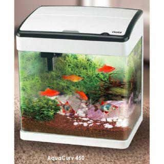 Aquacurv 450 Aquarium Tank 45.5 x 29.5 x 45.5cm-White ( Tank Only )