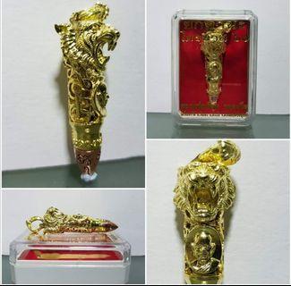 Tiger head takrut (bullet shape) Wat wang deang tai Lp uean Be 2560