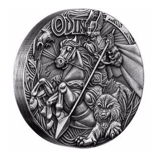 Norse Gods - Odin 2016 2oz Silver High Relief Antiqued Coin
