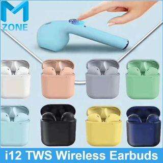 Earbuds Colorful i12 tws inpods 12 earphone Earbuds