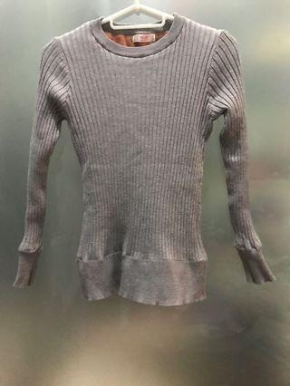 Grey heattech Sweater winter inner wear / pakaian sejuk