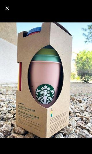 Starbucks  colour changing tumbler set