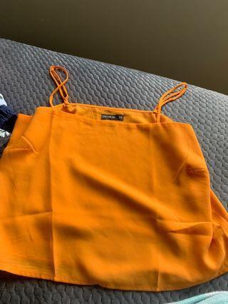 cute orange top