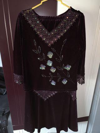 Embroidered Dress (Two piece)