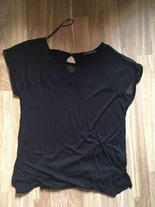Primark black mesh top