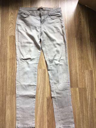 Zara Trf Light Grey Denim Jeans