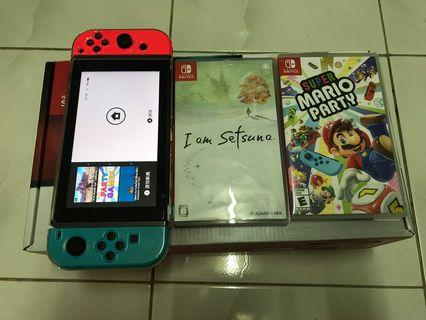 Nintendo Switch with 2 game