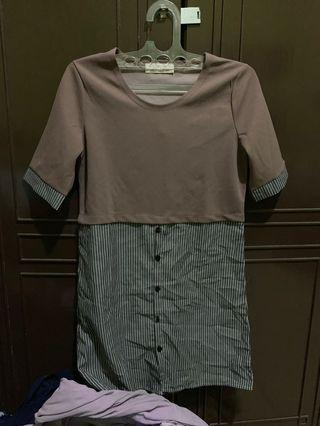 Jrep nude dress stripe