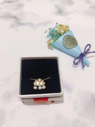 全新 雲朵精緻小珍珠項鍊 鎖骨鏈 含禮物盒 情人節
