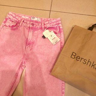 Mom jeans bershka boyfriend pink loose