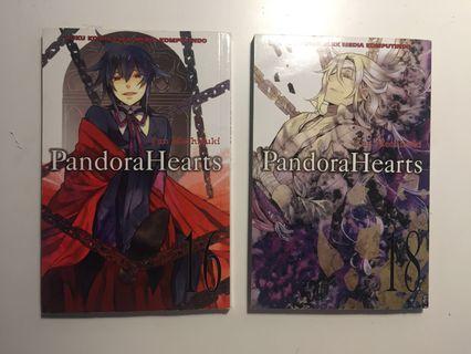 (Satuan) Pandora Hearts vol. 16, 18 by Mochizuki Jun