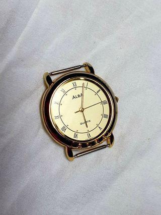 日本原裝雅柏ALBA防水石英錶,錶殼屬不鏽鋼材質,僅此一只,值得收藏!