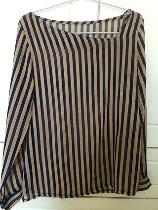 Stripes Nude Top