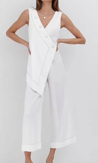 ASOS design button jumpsuit with overlay