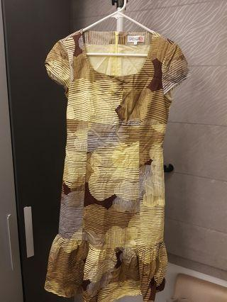 Lafalee 李卉羚設計師幾何修身魚尾洋裝/連衣裙